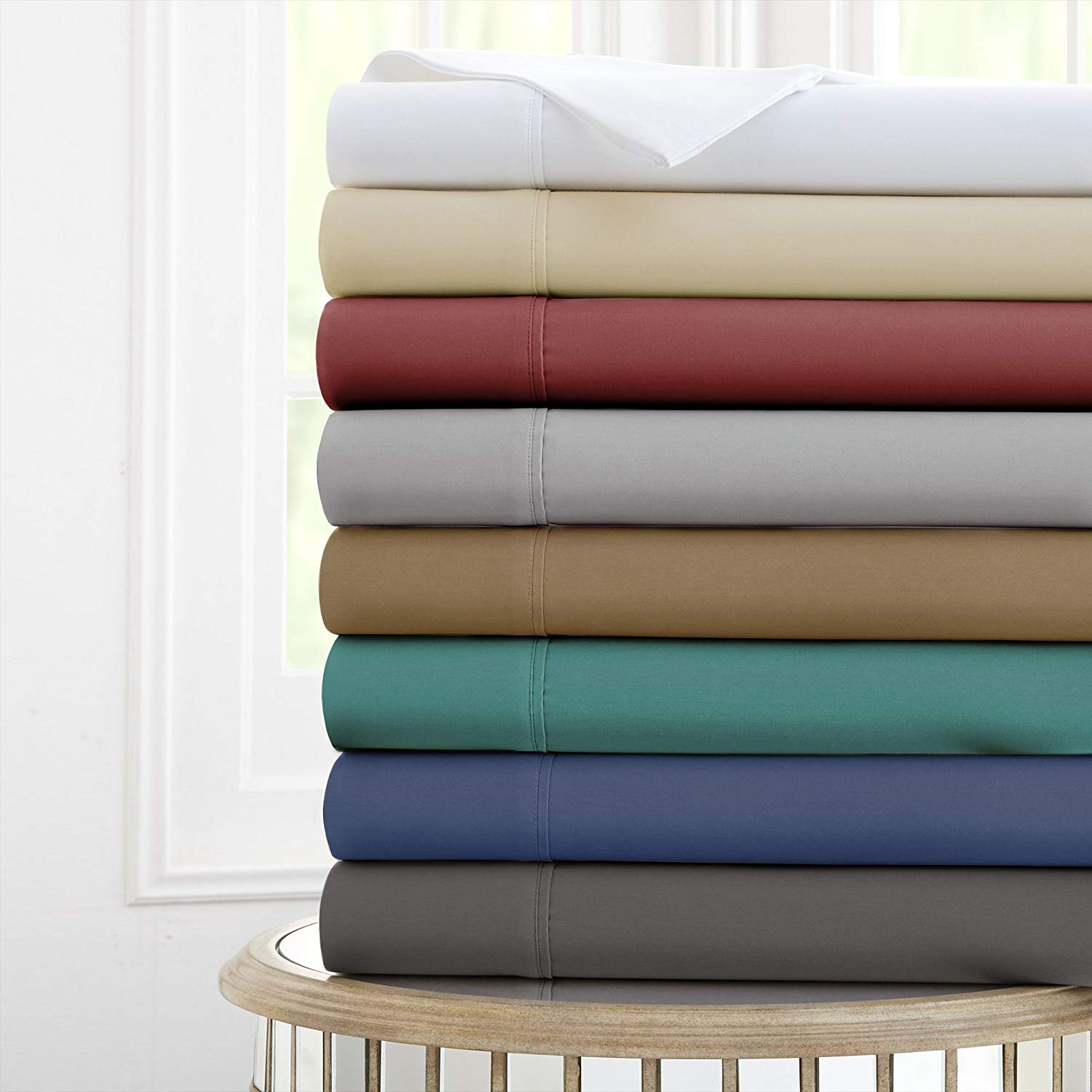 Click to Buy Amrapur Overseas Nanotex Sheet Set - Best Sheets For Sweaty Sleepers