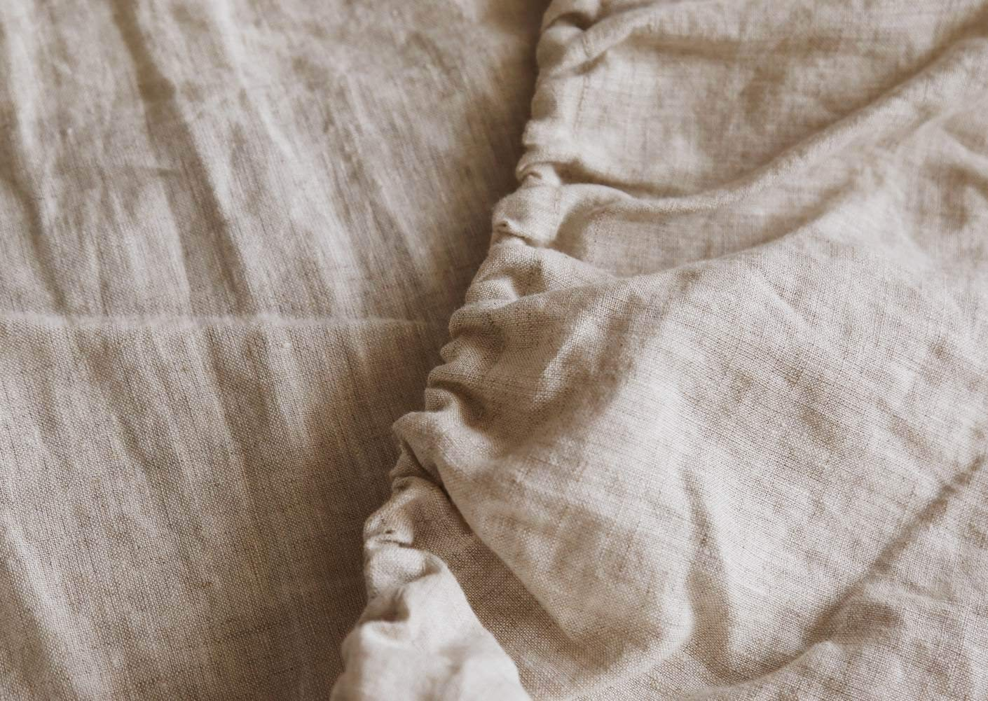 Image of Meadow Park's French Linen Sheet Set - Best Sheets for Sweaty Sleepers