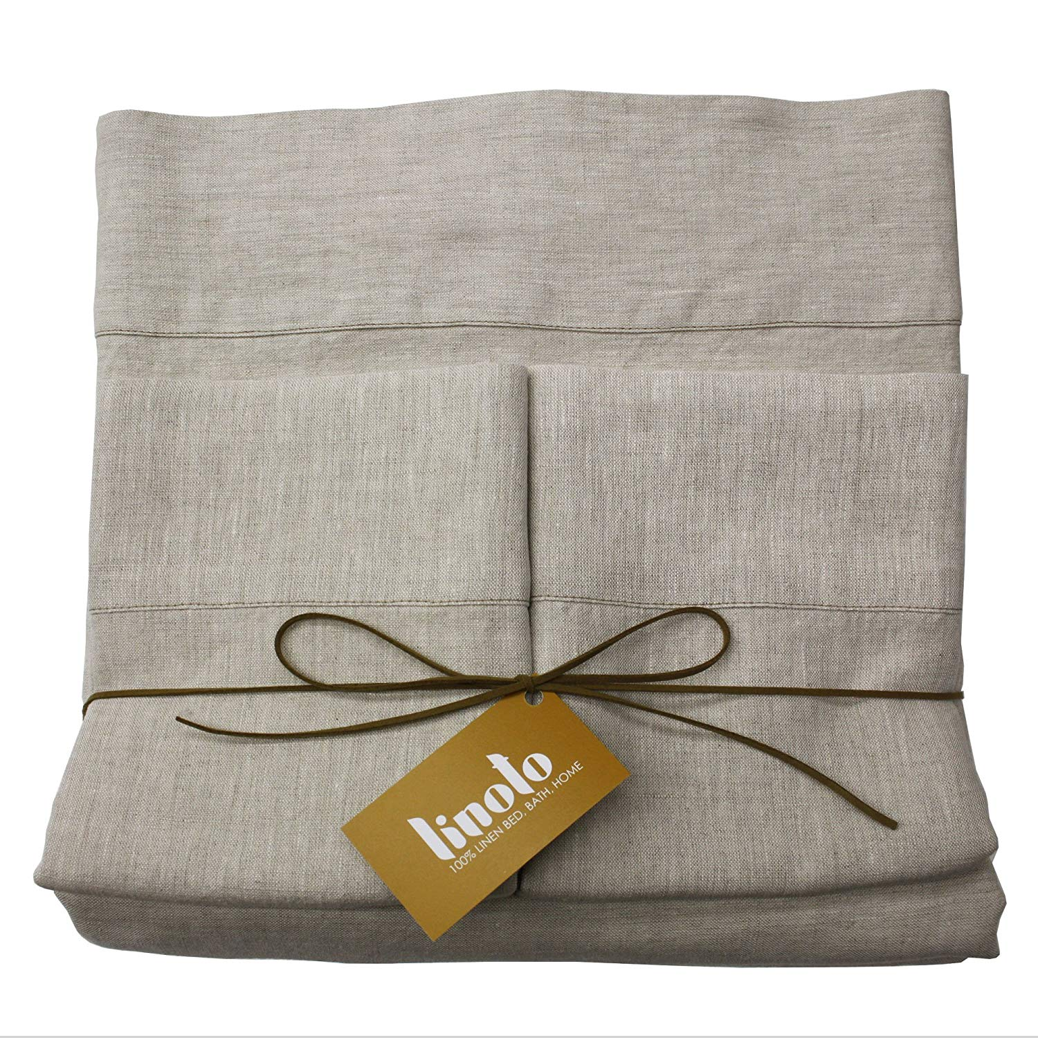 Image of Linoto 100% Linen Bed Sheet - Best Sheets for Night Sweats