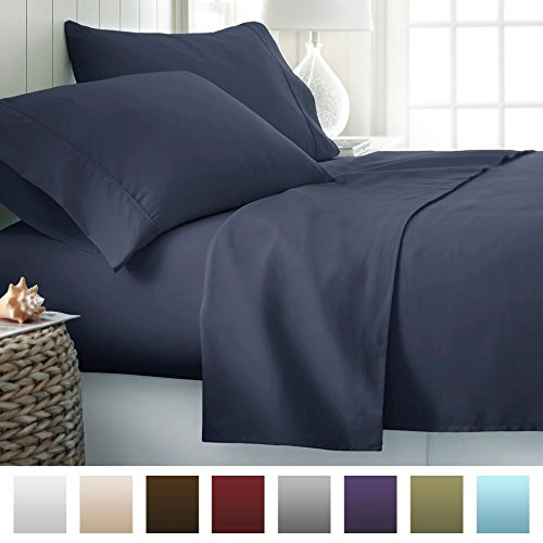 Image of Beckham Hotel Collection Microfiber Sheet Set - Microfiber Sheets vs Cotton