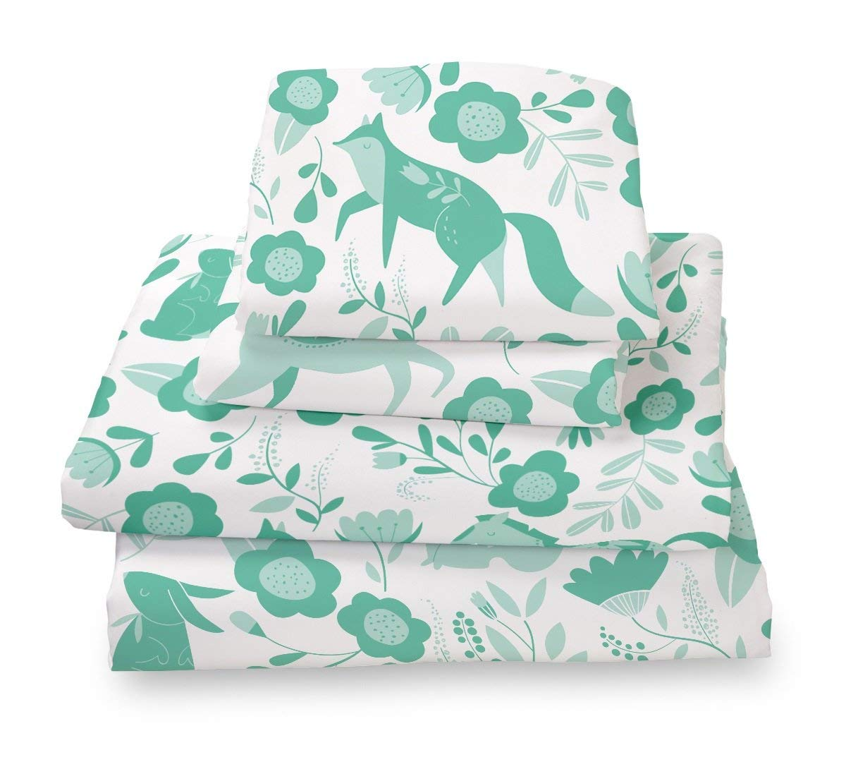 Image of Folktale Forest Animals Microfiber Sheet Set - What Are Microfiber Sheets