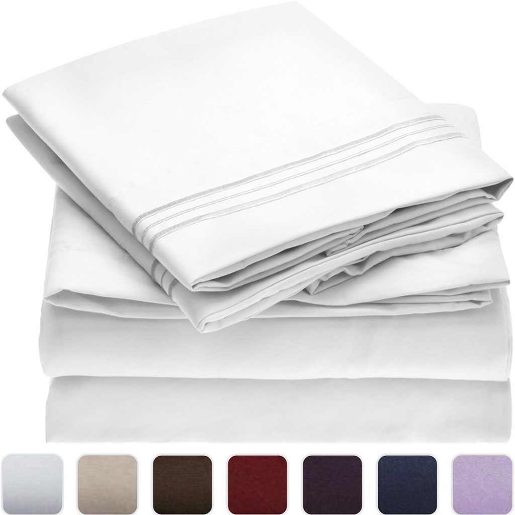 Image of Mellanni microfiber sheets 1800 thread count - What are Microfiber Sheets