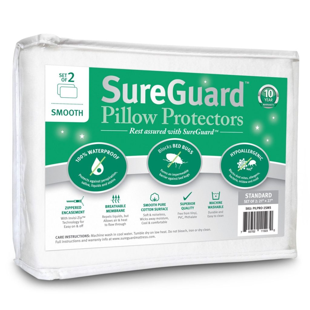 Image of SafeGuard pillow encasement - Best Thing to Kill Bed Bugs