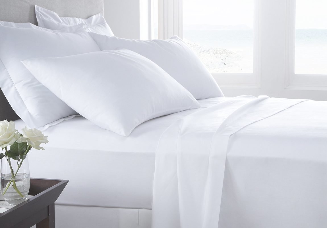 Image of Serene Linens' 100% Pima Cotton Sheet Set - Microfiber Sheets vs Cotton