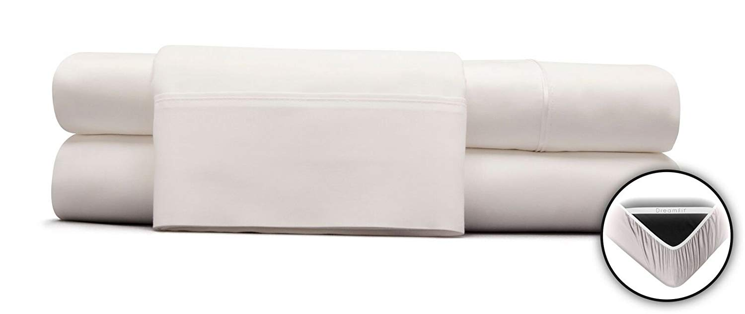 Image of DreamFit 100% Egyptian cotton bed sheets - Best Sheets for Night Sweats
