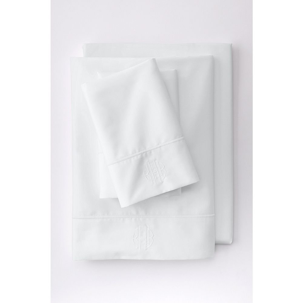 Image of Lands' End No Iron Supima Solid Sheets - Best Sheets for Sweaty Sleepers