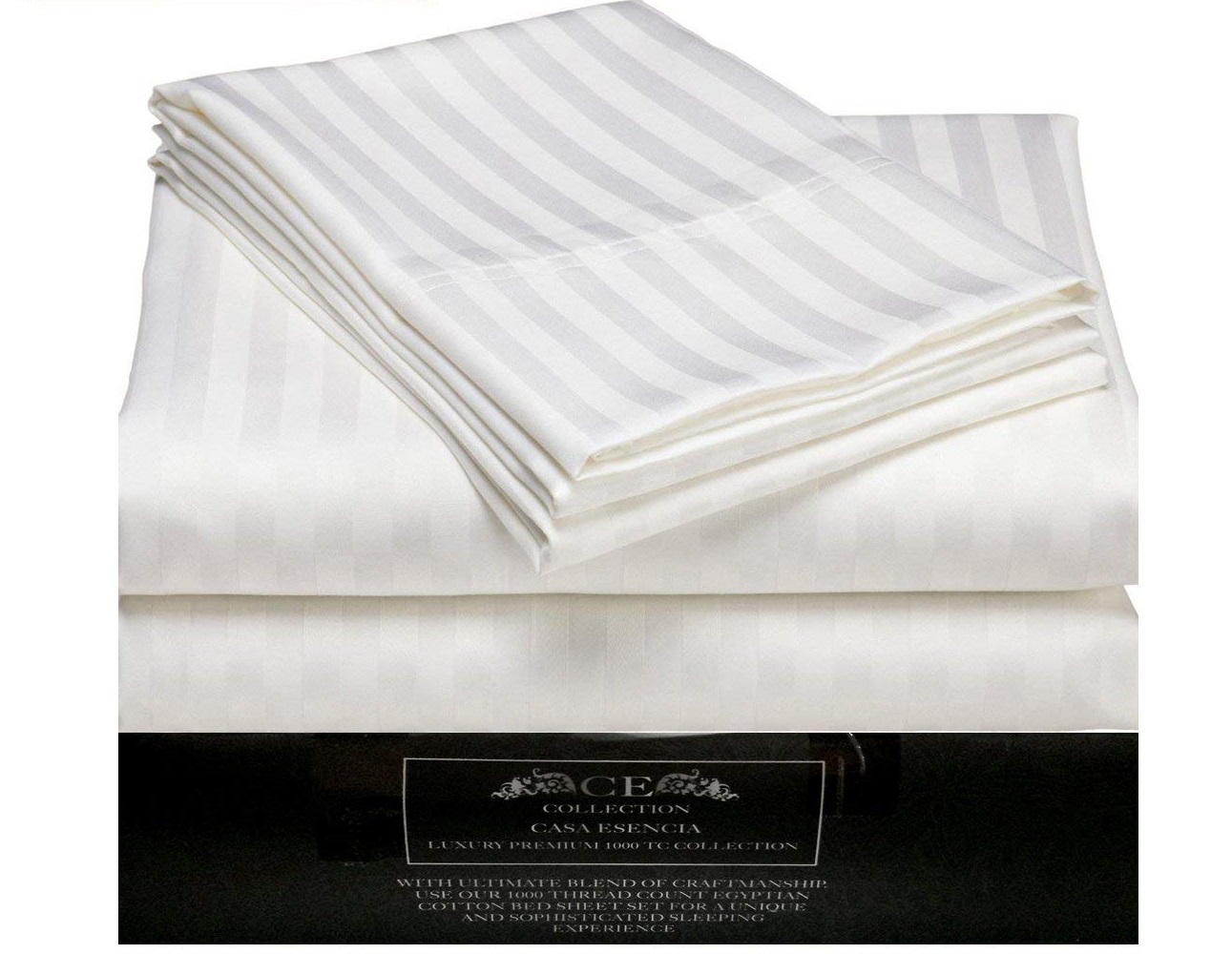 Image Of Ce Casa Esencia Luxury 100 Egyptian Cotton Sheets 1000 Thread Count Best