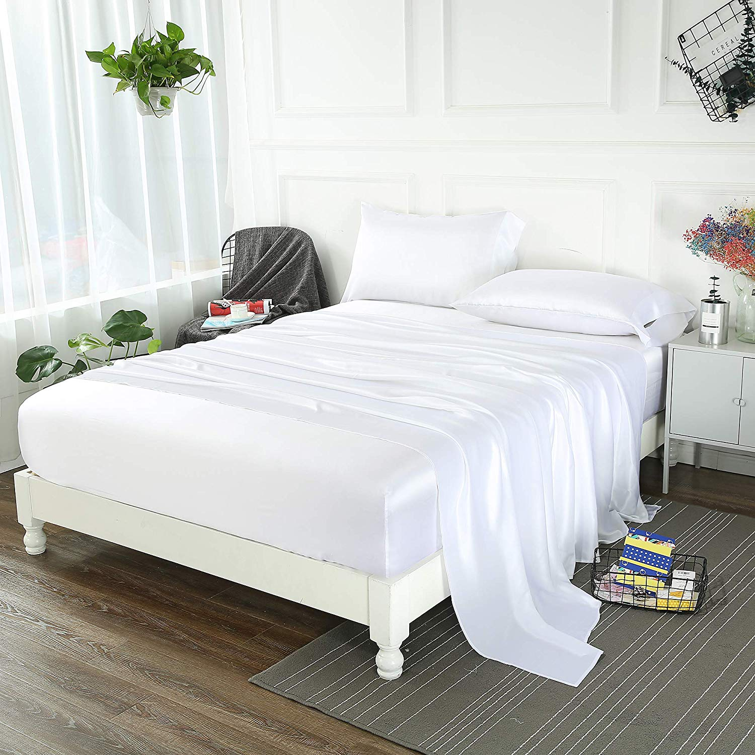 LilySilk 19 Momme Pure Silk Sheet Set - High Thread Count Sheets