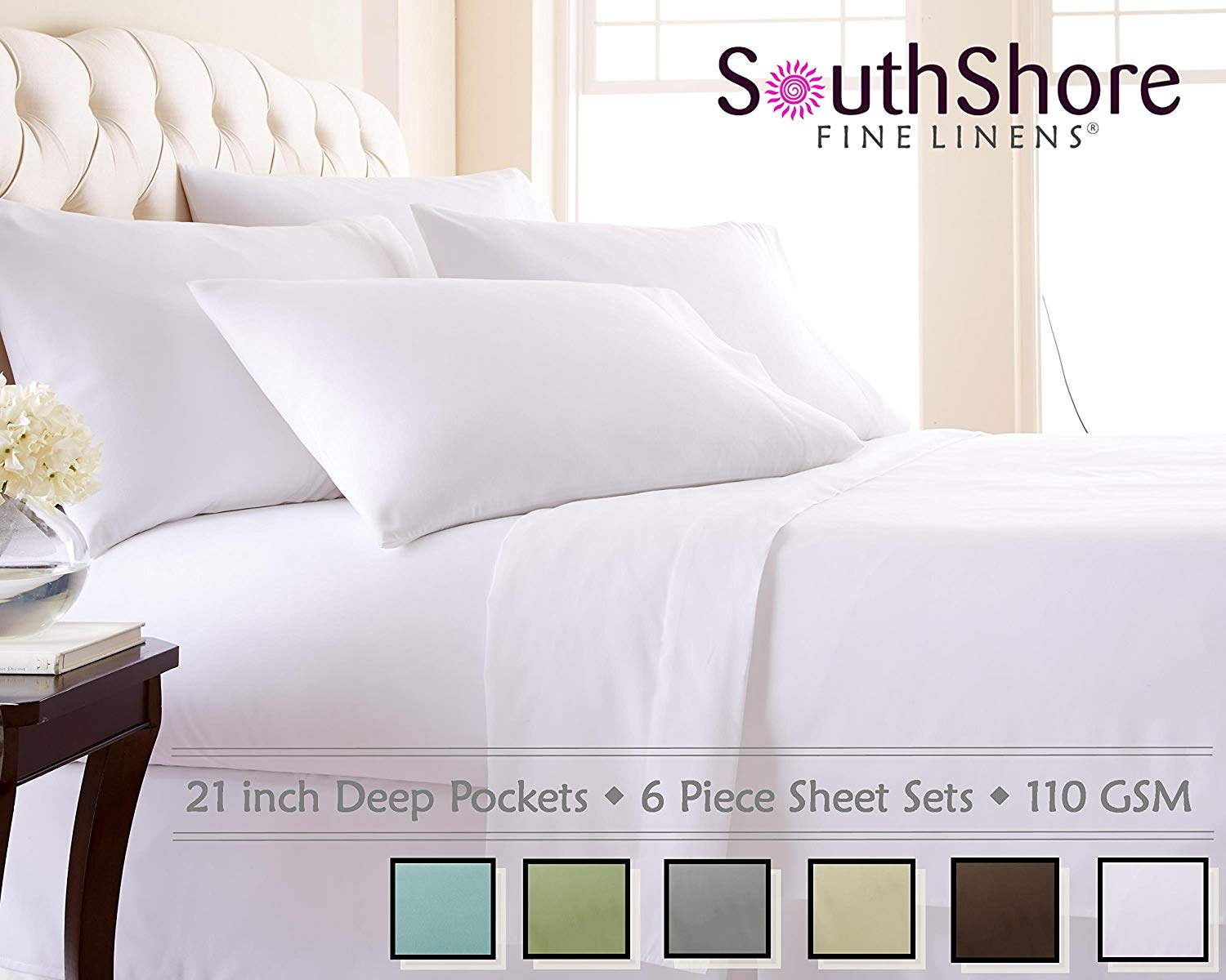 Southshore Fine Linens 110 GSM Microfiber Sheet Set - High Thread Count Sheets