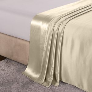 Image of Ivory Microfiber Sheets on a Bed - What Are Microfiber Sheets?