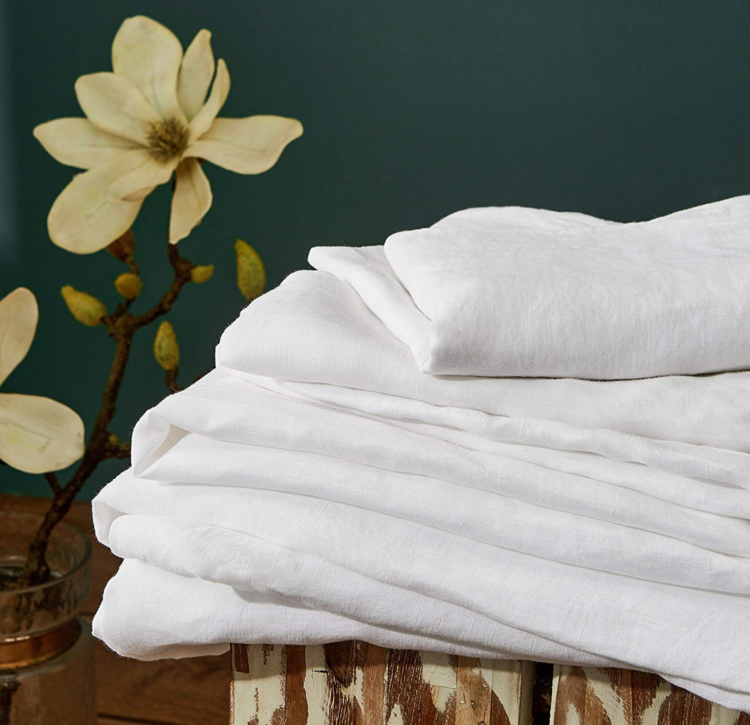 DAPU Pure Linen Sheets Set - Affordable Linen Sheets