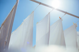 Linen On Clotheslines - Affordable Linen Sheets