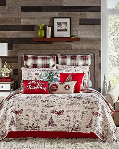 Holiday Home King Size Quilt - Best Christmas Bedspreads And Quits