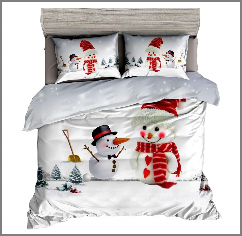 KTLRR Snowman Christmas Duvet Cover Set - Buy Christmas Duvet Covers