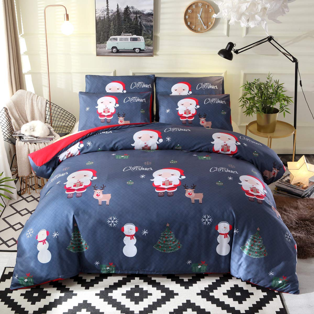 Nattey Christmas Duvet Cover Set - Buy Christmas Duvet Covers