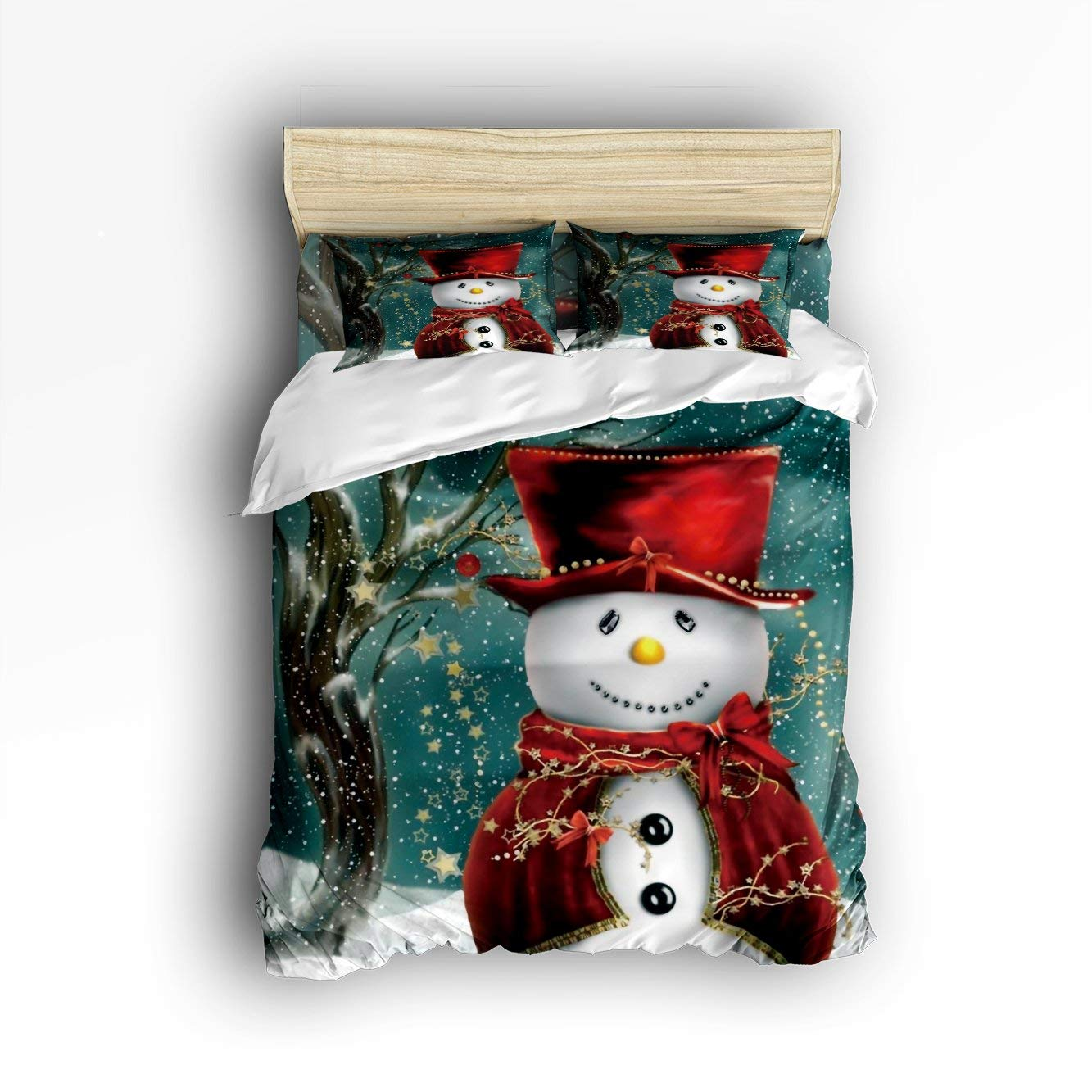 Family Decor Snowman Christmas Duvet Cover Set - Buy Christmas Duvet Covers