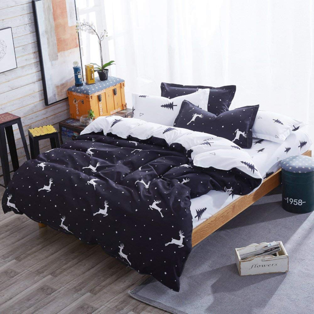 Nattey Christmas Deer Duvet Cover Set - Buy Christmas Duvet Covers