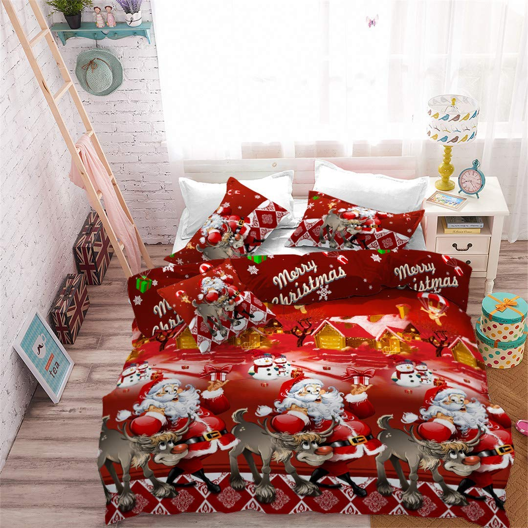 Rhap Santa & Raindeer Christmas Duvet Cover Set - Buy Christmas Duvet Covers