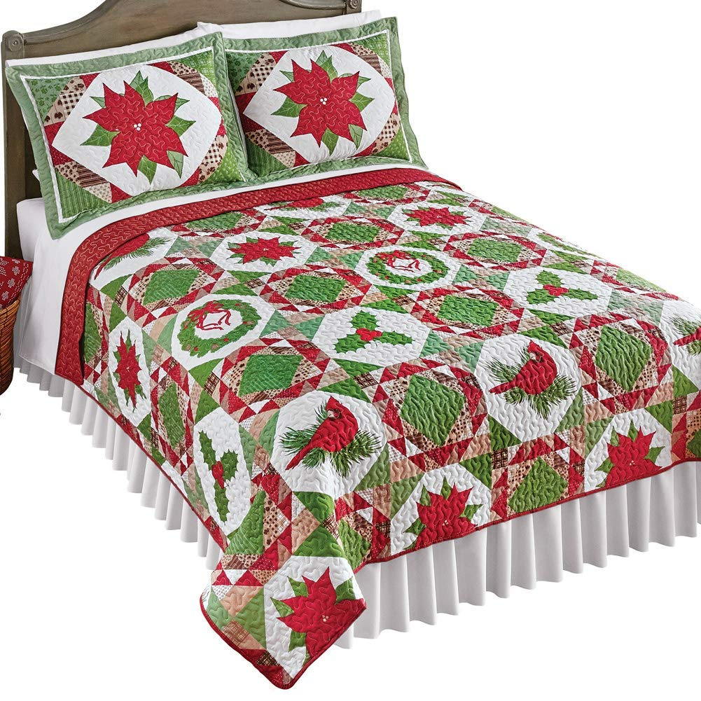 Collections Etc Quilt - Christmas Bed Quits