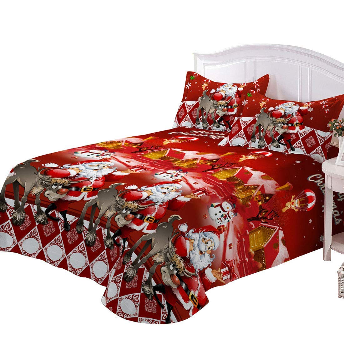 Christmas Sheets.Best Christmas Sheets Queen Size Top 21 Picks For 2019
