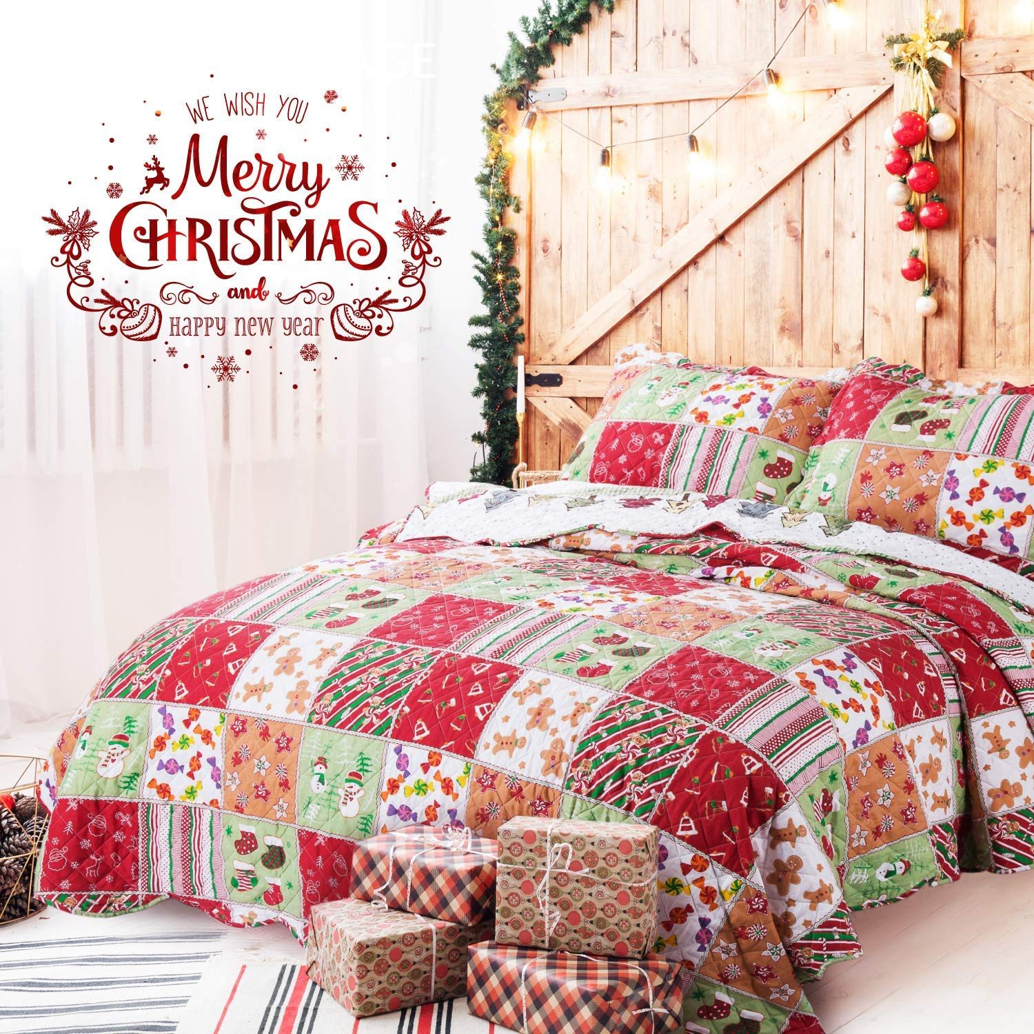 Bedsure's Quilt Set- Best Christmas Bedspreads And Quits