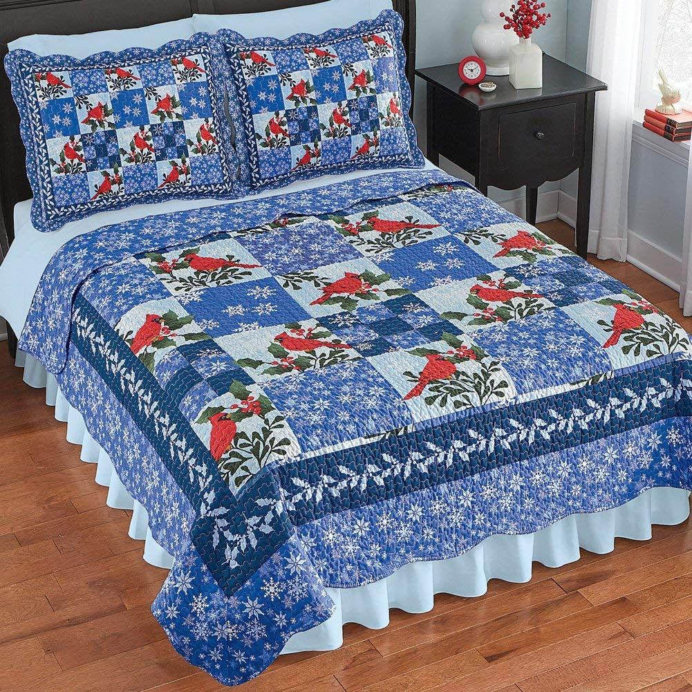 Collections Etc Quilt Set - Christmas Bed Quits