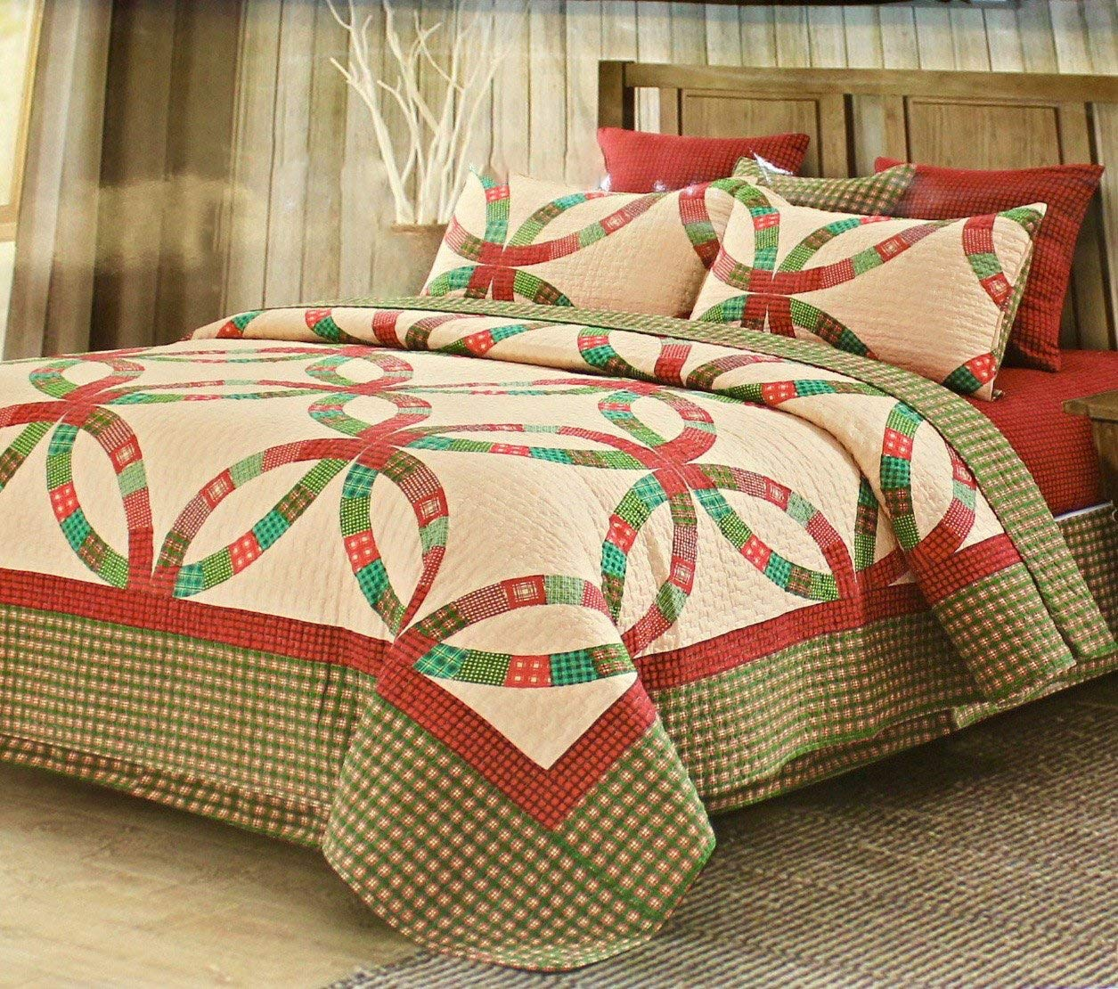 Holiday Home's Vintage Quilt Set - Christmas Bed Quits