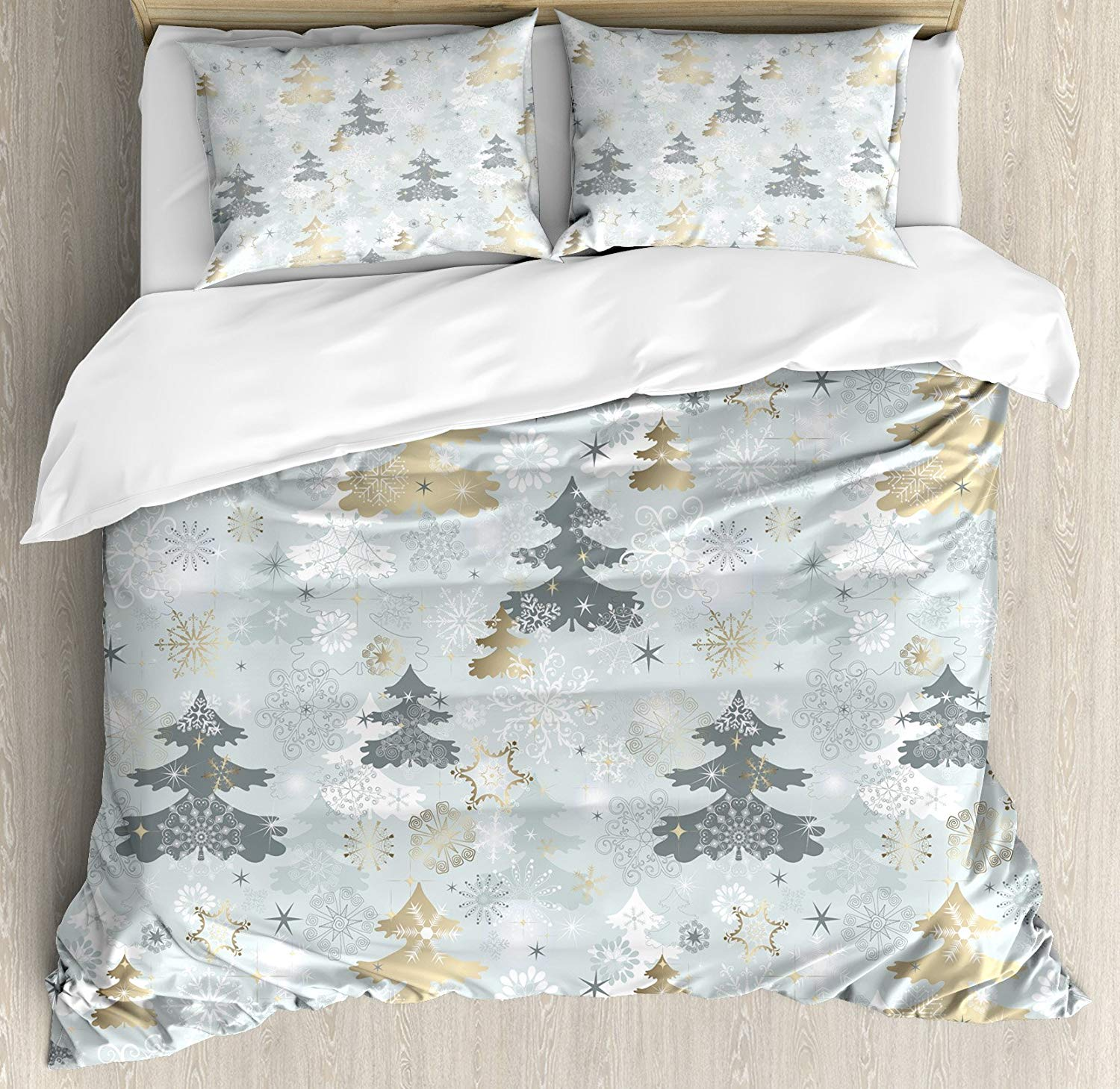 Ambesonne Retro Pine Christmas Duvet Cover Set - Buy Christmas Duvet Covers
