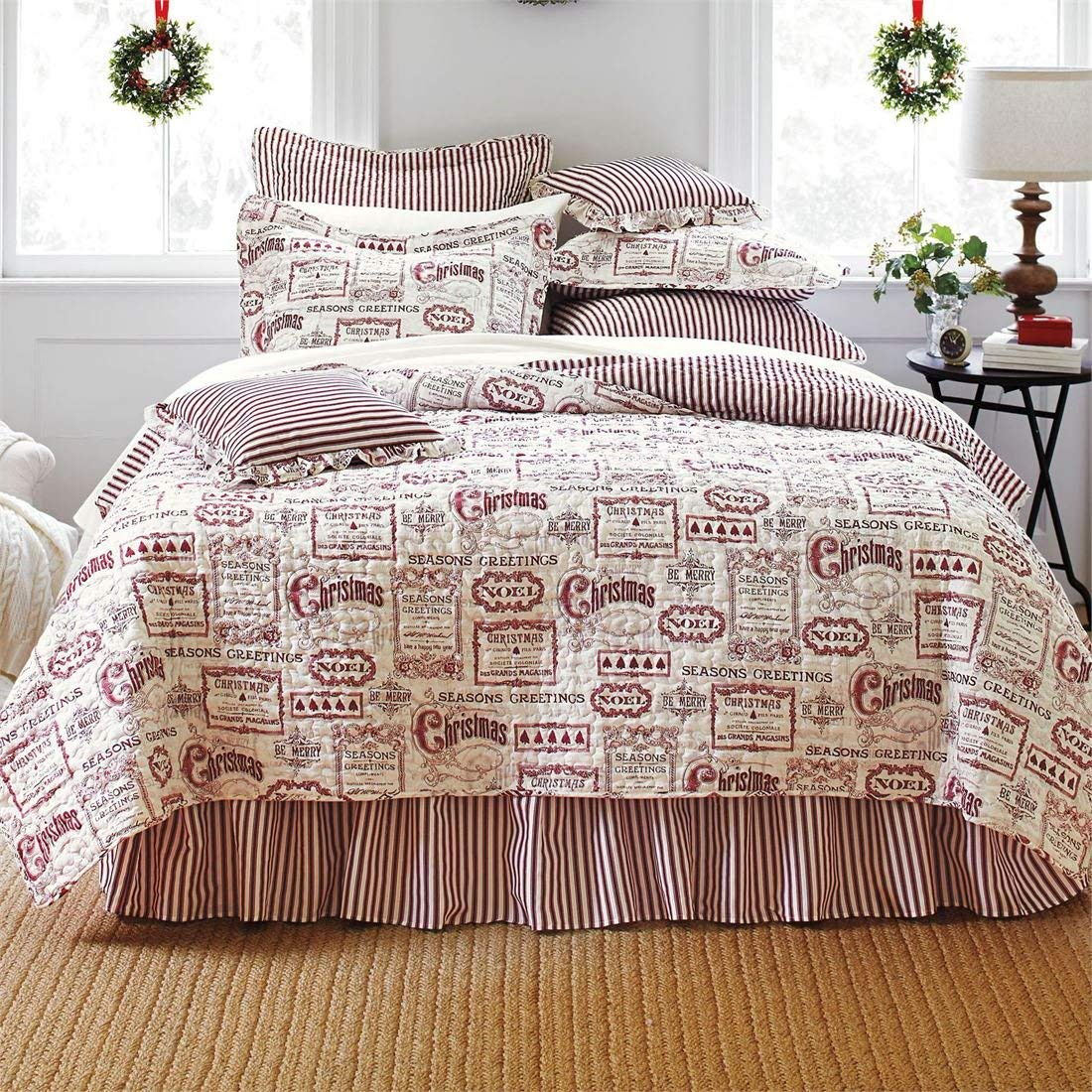 BrylaneHome Quilt Set - Christmas Bed Quits