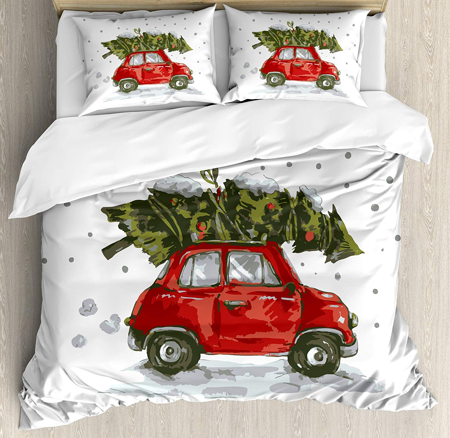 Ambesonne Retro Christmas Duvet Cover Set - Buy Christmas Duvet Covers