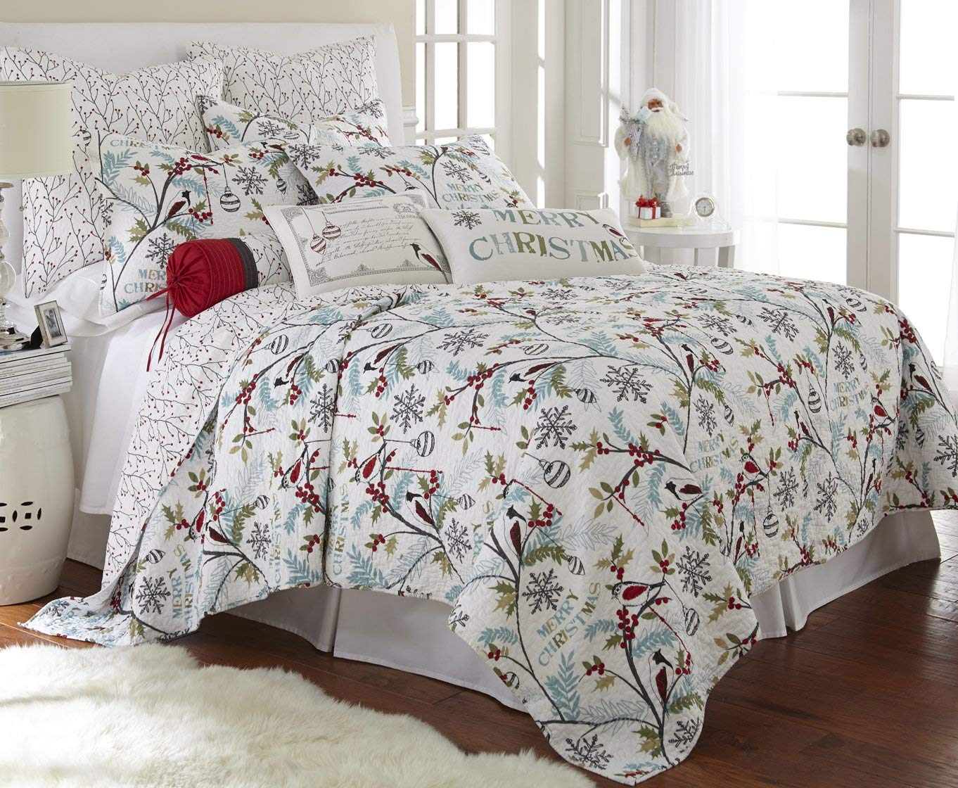 Levtex Christmas Quilt Set - Best Christmas Bedspreads And Quits