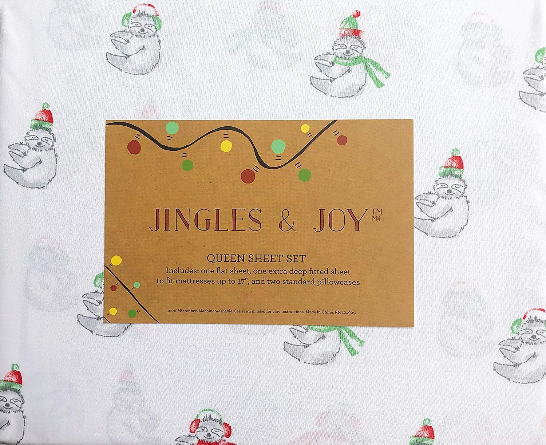 Jingles & Joy Christmas Teddy Bear Sheets - Best Christmas Sheets Queen Size