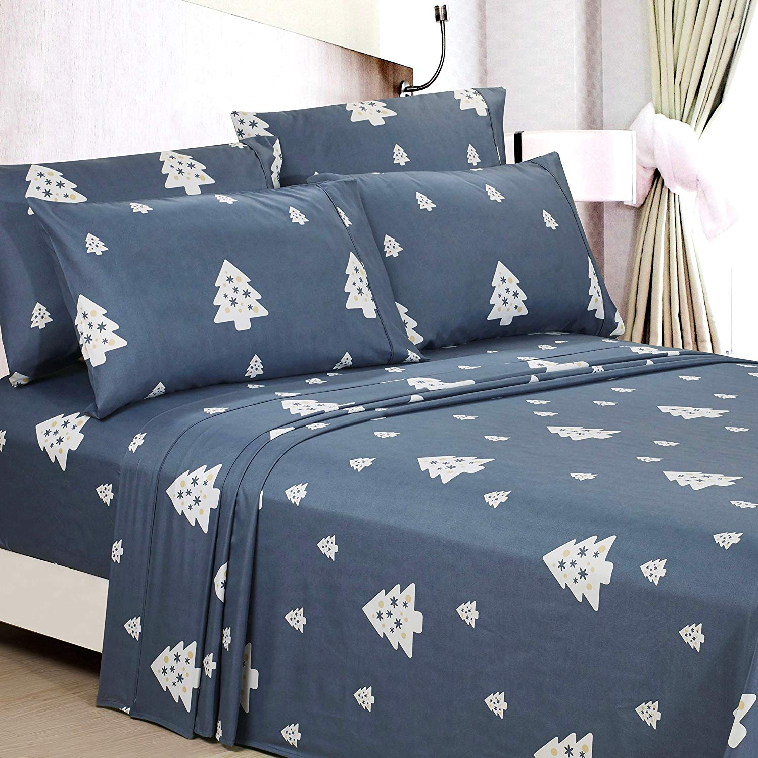 American Home Collection Christmas Tree Sheets - Best Christmas Sheets Queen Size