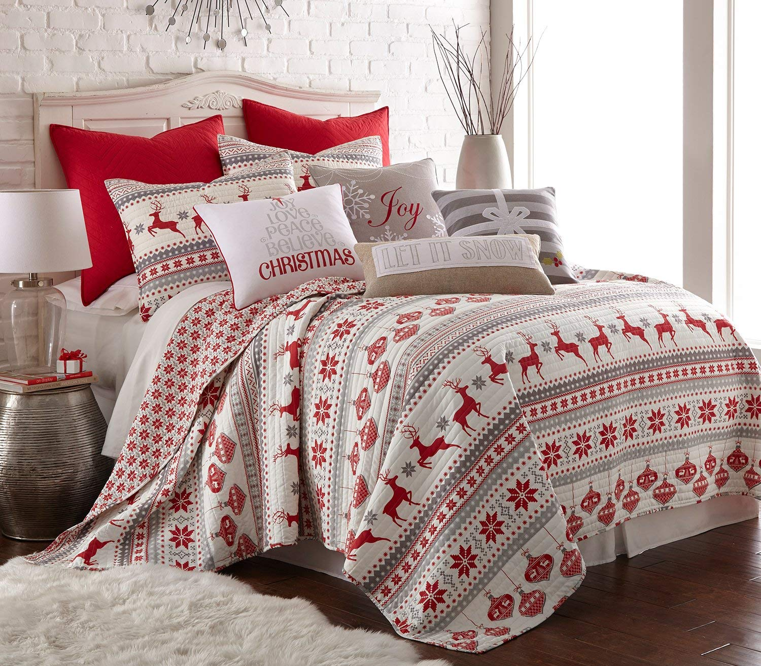 Levtex Silent Night Quilt Set - Christmas Bed Quits