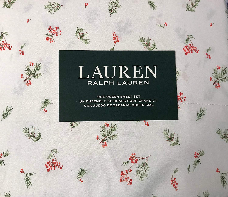 Ralph Lauren Holly Berries Sheets - Best Christmas Sheets Queen Size