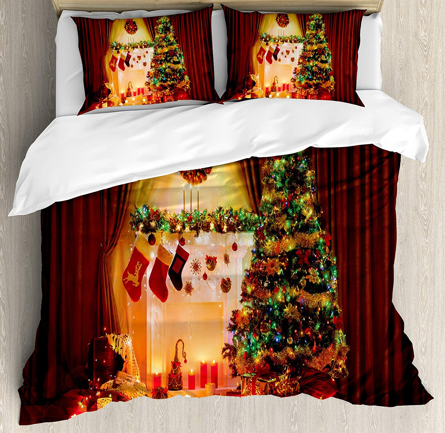 Ambesonne Peaceful Christmas Duvet Cover Set - Buy Christmas Duvet Covers