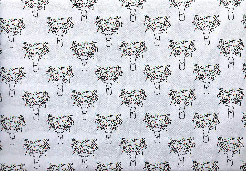 Holiday Spirit Home Linens Deer Head Sheets - Best Christmas Sheets Queen Size