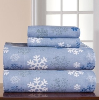 Pointehaven Snow Flakes Sheets - Best Christmas Sheets Queen Size
