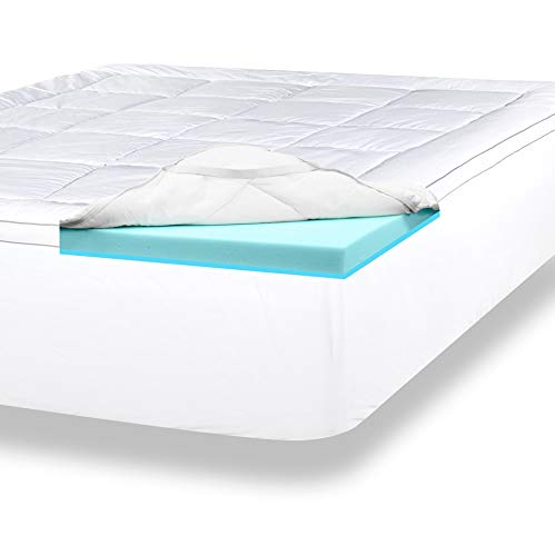 "ViscoSoft 4"" memory foam mattress topper - Top Rated Mattress Toppers"