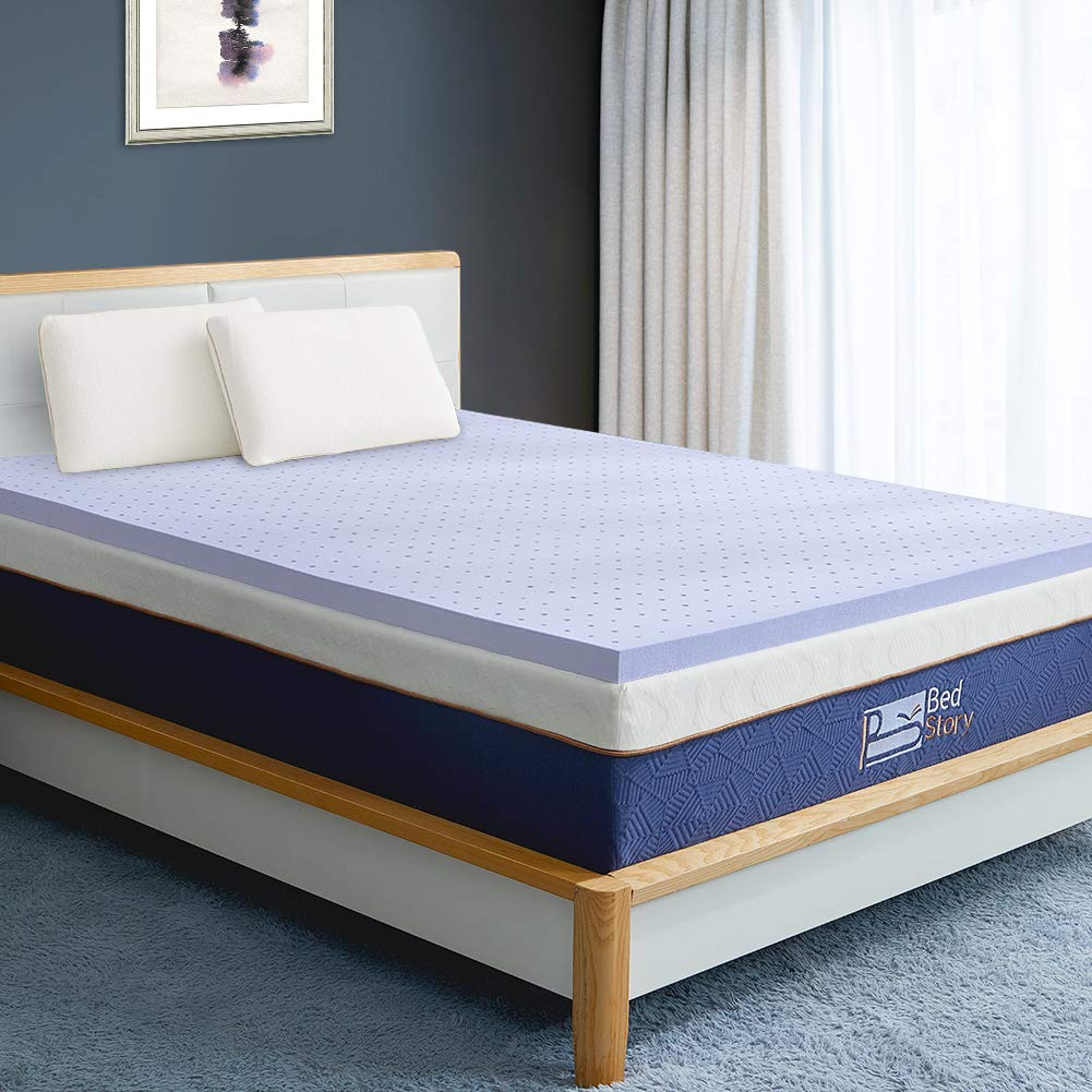 "BedStory 2-3"" memory foam mattress topper - Top Rated Mattress Toppers"