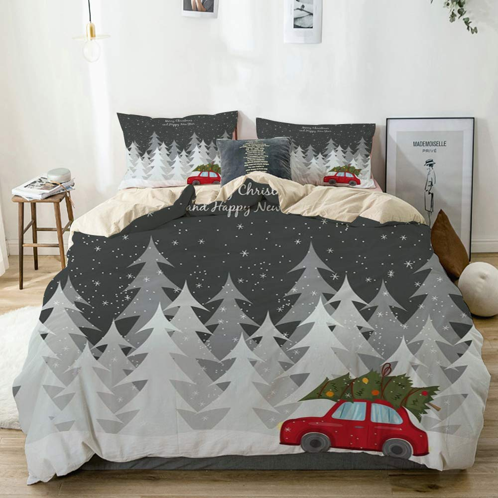 Wincan Christmas Comforter Set - Red Truck Christmas Sheets