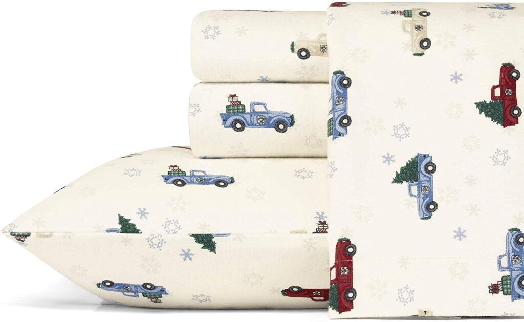 Eddie Bauer's Red Truck Sheet Set - Red Truck Christmas Sheets