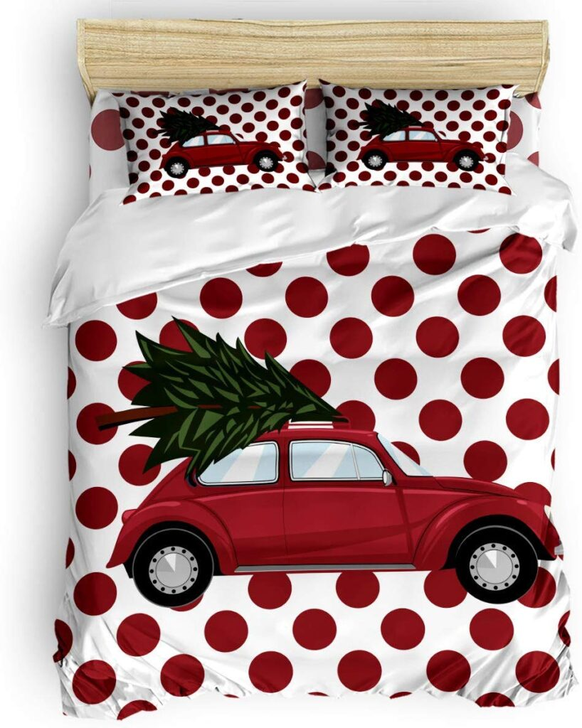 SevenRoses Christmas Comforter Set - Red Truck Christmas Sheets