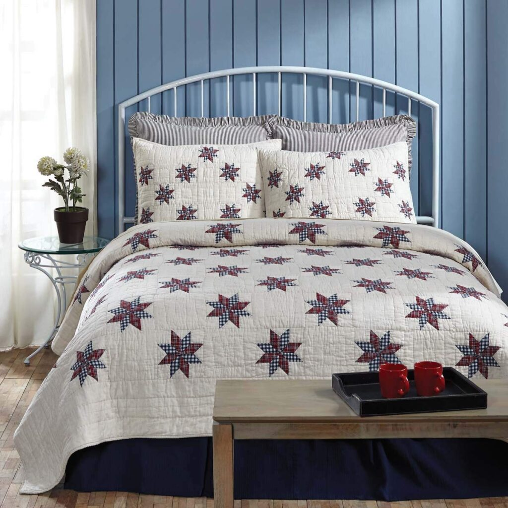 VHC Brands Lincoln Quilt - Best Christmas Bedspreads And Quilts