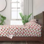 Roostery's Red Truck Sheet Set - Red Truck Christmas Sheets