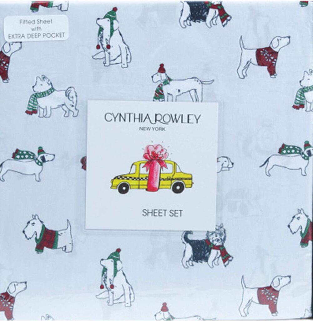 Cynthia Rowley Dog Christmas Sheets - Best Christmas sheets twin size