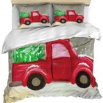 Sweet Home Christmas Comforter Set - Red Truck Christmas Sheets