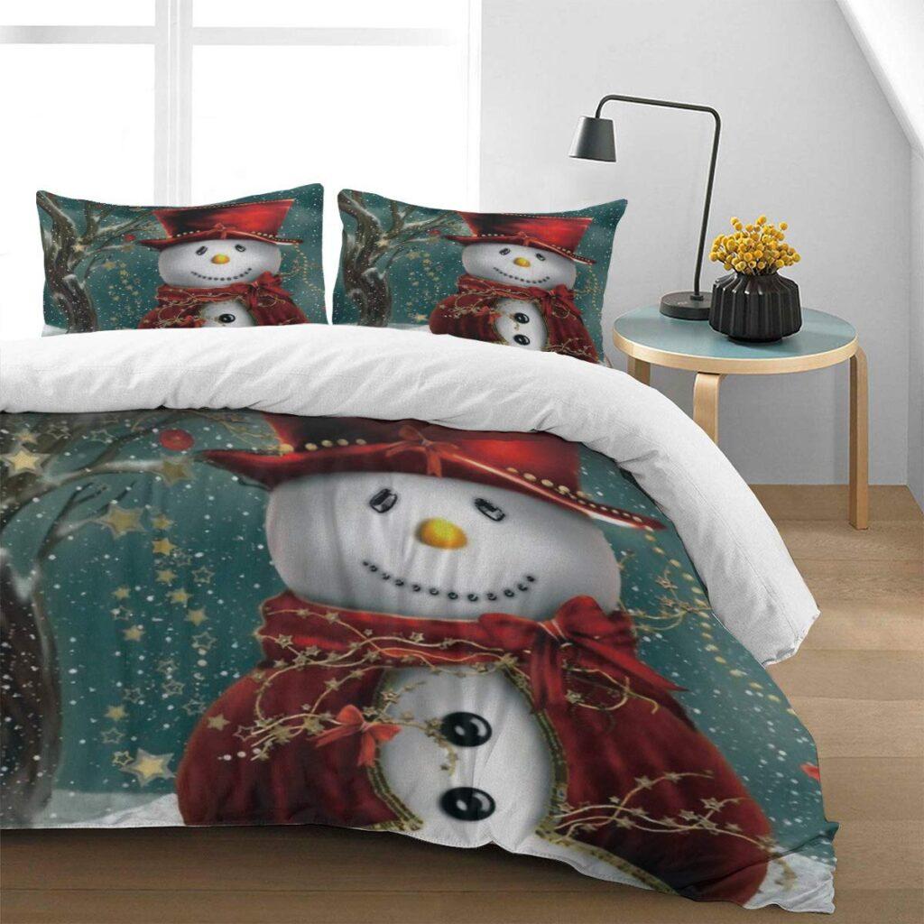 Family Decor Snowman Christmas Duvet Cover Set - Buy Christmas Duvet Covers
