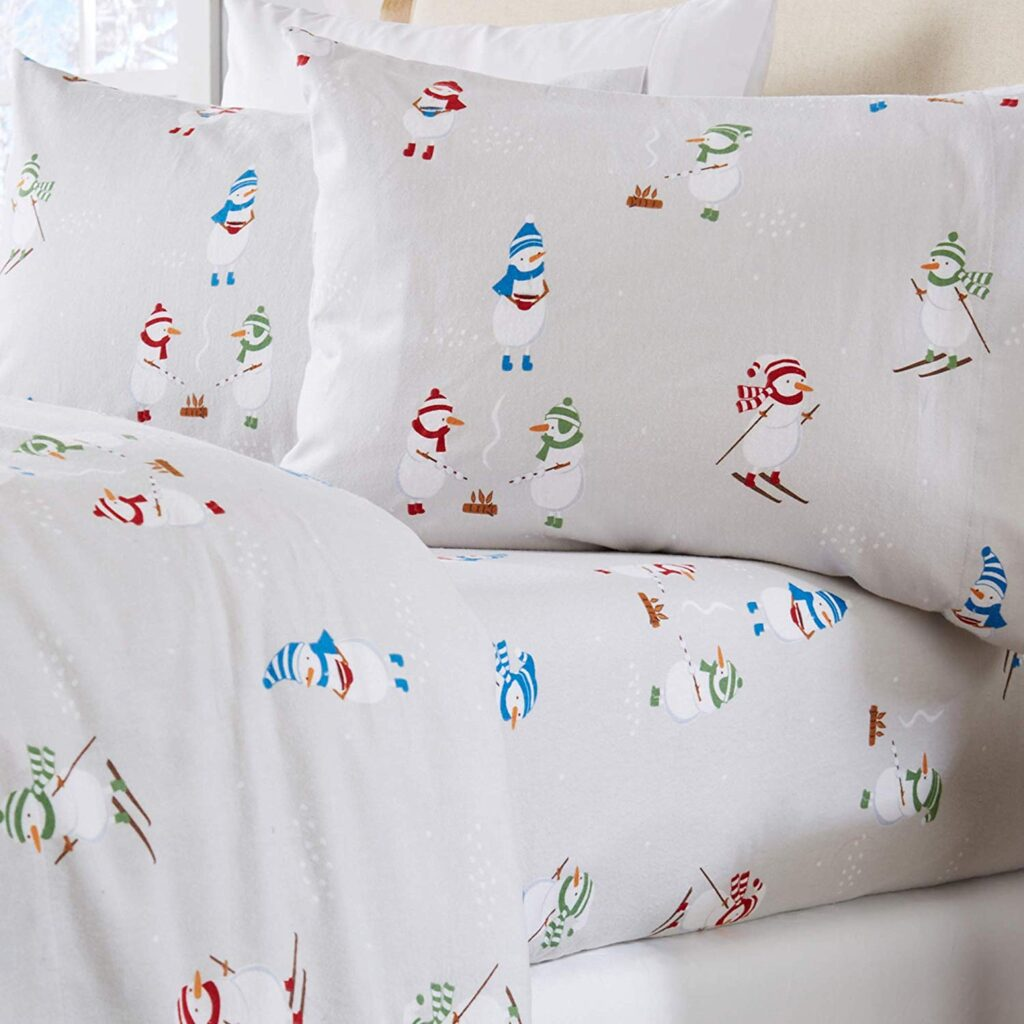 Home Fashion Designs Snowman Sheets - Best Christmas Sheets Queen Size