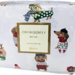 Cynthia Rowley Christmas Dachshund Sheets - Best Christmas Sheets Queen Size